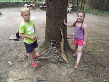 Stavění lesních domečků