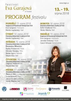 Festival Evy Garajové a koncert Jaroslava Svěceného 13. - 19. srpna 2018