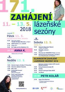 Víkendové zahájení lázeňské sezóny 2018